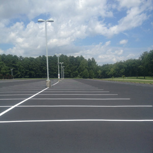 Commercial Parking Lot Before